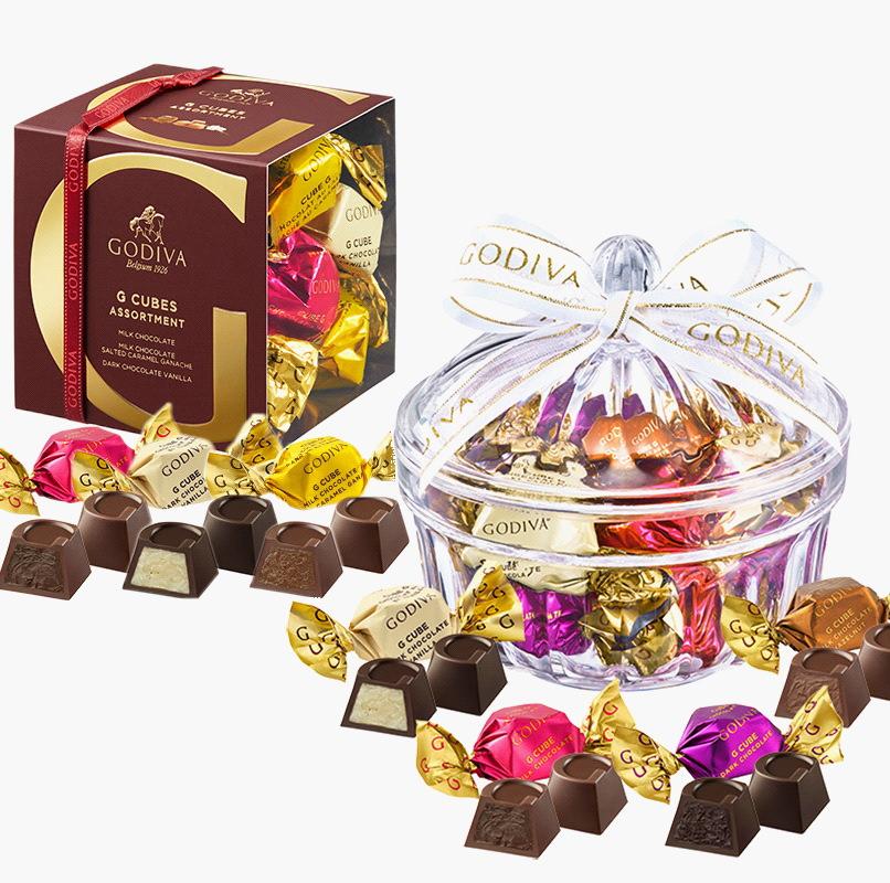 誕生日プレゼント・ゴディバのチョコレート・スマホ用